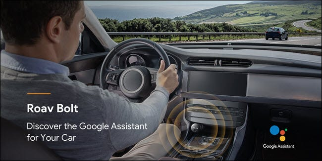 Roav volt with google assistant in a car