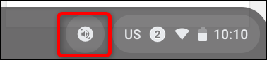 Select-to-Speak is enabled and the icon displays next to the system tray