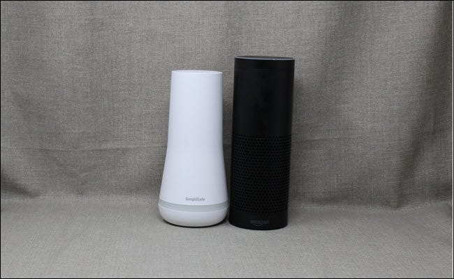 Simplisafe Next to an Amazon Echo