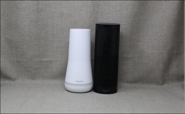 Simplisafe Next to an Amazon Echo