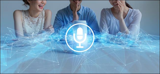 Smart speaker concept. AI speaker. Voice recognition