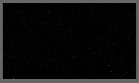 cielo nocturno negro con estrellas