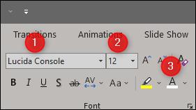command line font