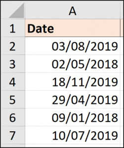 Dates with full stops converted to real dates