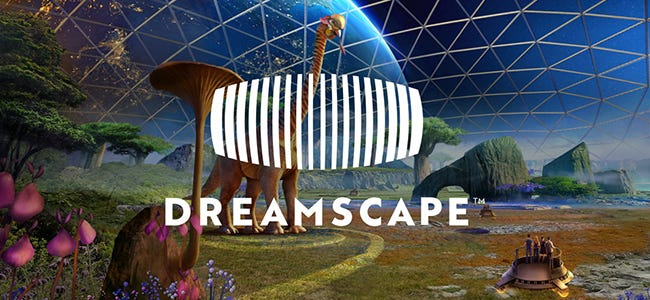 Virtual reality simulation of alien dinosaurs