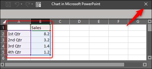 enter chart data