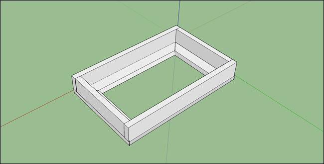 A sketchup design of a magic smart mirror frame