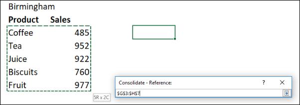 Recopilando las referencias para consolidar