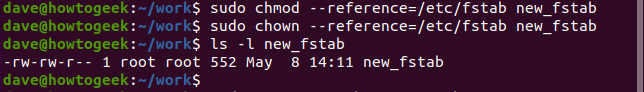 --reference option in a terminal window