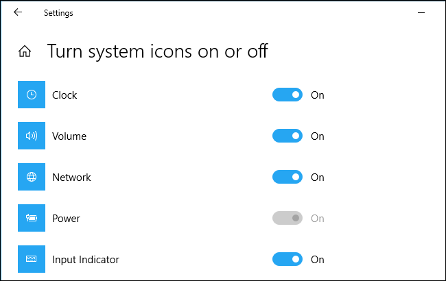 Grayed out Power icon option on a desktop PC with Windows 10