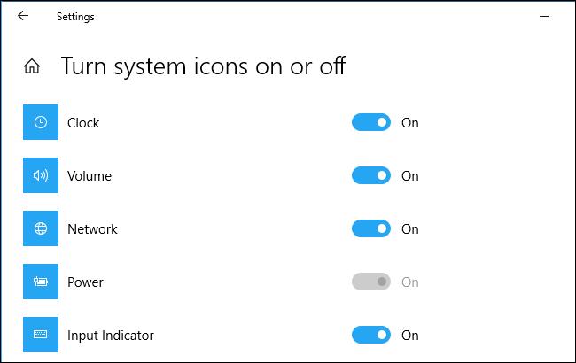 Opción de icono de energía atenuada en una PC de escritorio con Windows 10