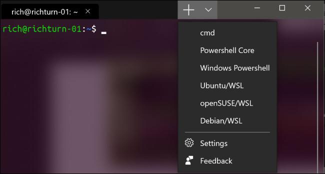 Abriendo una nueva pestaña en la nueva Terminal de Windows