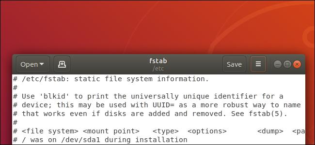 editor de texto gedit en el escritorio de Ubuntu Linux