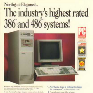 Vintage computer ad for a 386 computer