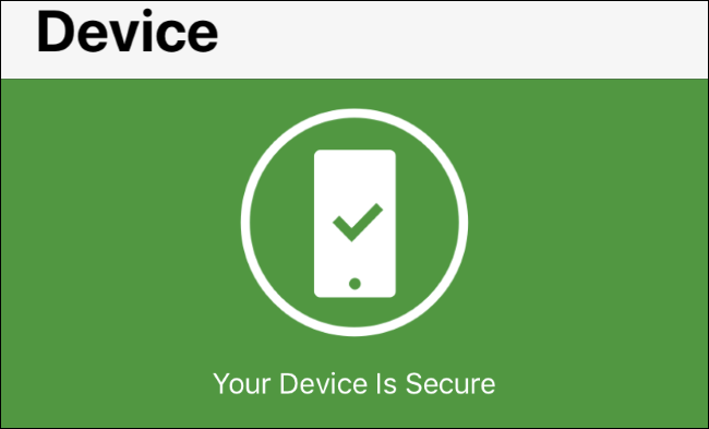 OS Alerts status in Norton Mobile Security for iOS