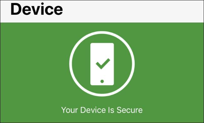 Estado de las alertas del sistema operativo en Norton Mobile Security para iOS