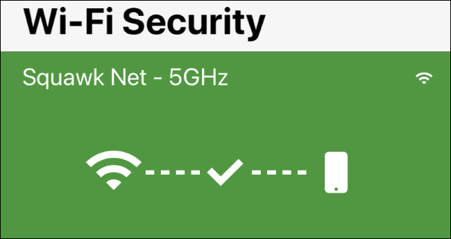 Wi-Fi Security screen in Norton Mobile Security for iPhone