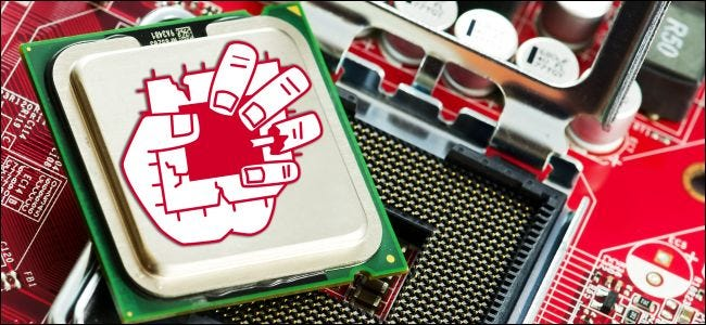 ZombieLoad logo on an Intel CPU