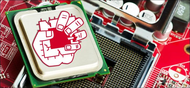 ZombieLoad logo on an Intel CPU