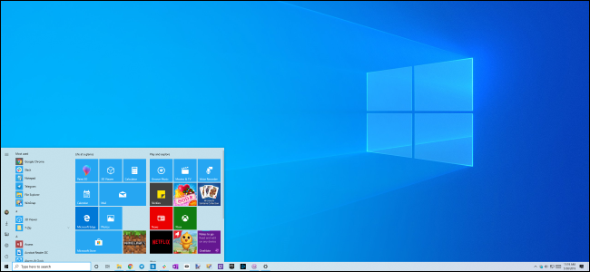 Windows 10's light theme and new desktop background