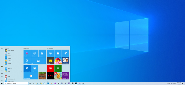 Windows 10's new light theme and desktop background