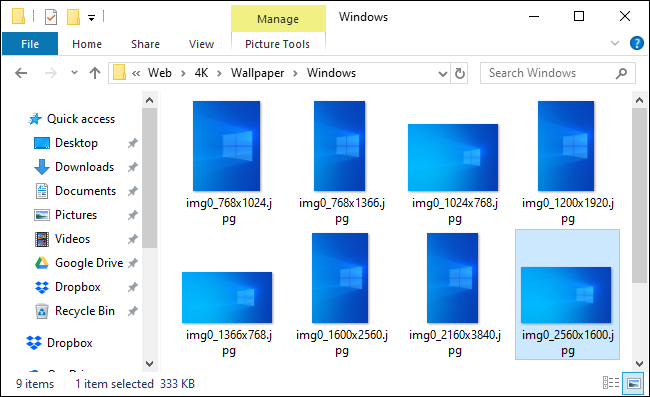 Windows default wallpaper location showing new light wallpaper