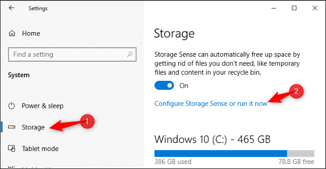 Run Storage Sense now on Windows 10's May 2019 Update