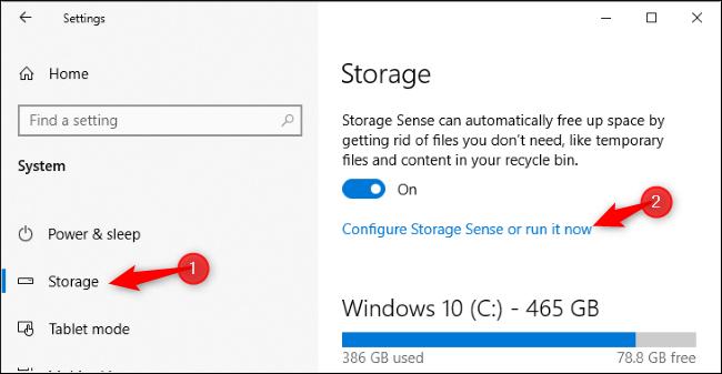 Run Storage Sense now on Windows 10's May 2019 Update