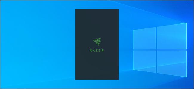 Razer splash screen on a Windows 10 desktop