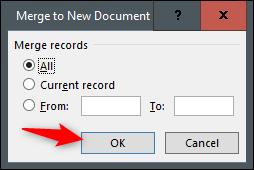 fusionar a un nuevo documento