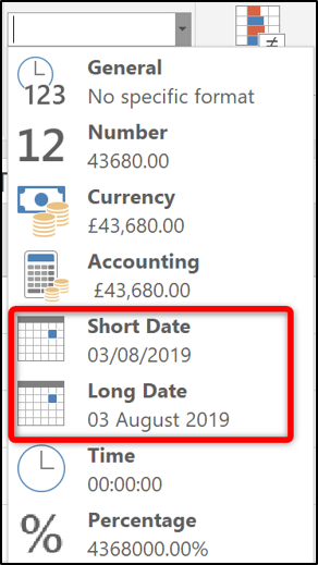 Formatting number as a date