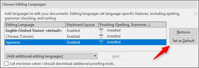 establecer idioma predeterminado