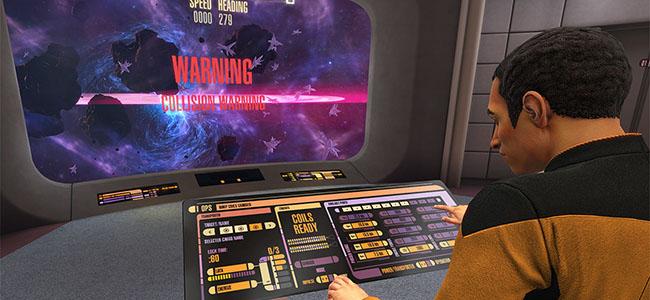 Bridge of a starship in the VR game Star Trek: Bridge Crew