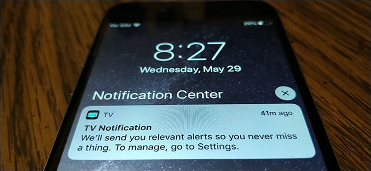 How to disable TV notifications