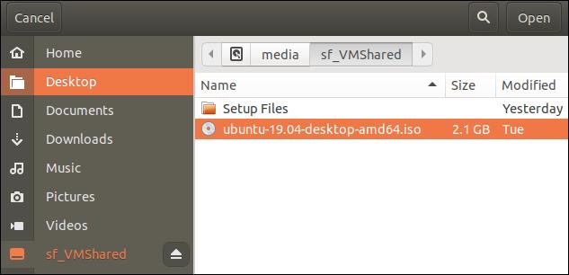 file open dialog