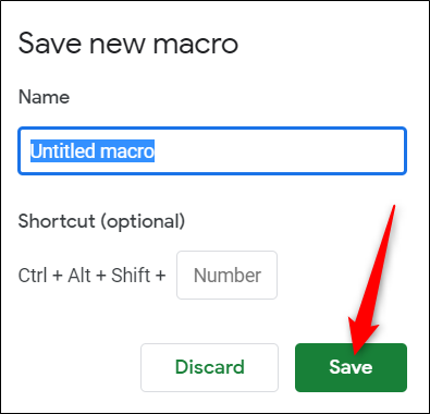 You don't need to worry about naming it, click Save