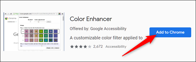 Click Add to Chrome on the extension you want to add