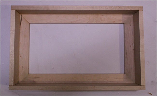 Box attached to frame