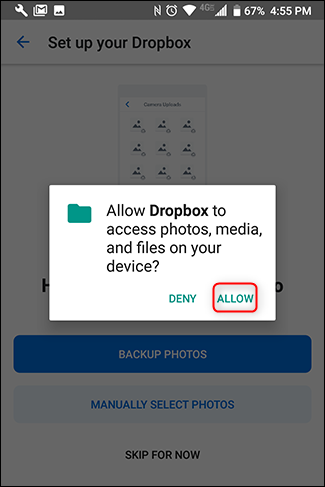 "Tap ""Allow."""