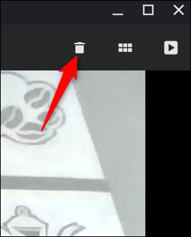 Not satisfied with the video? Click the trash can to delete it