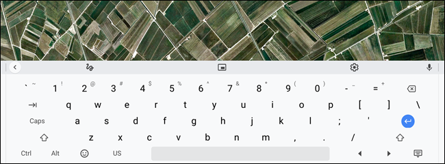 "The on-screen keyboard docks to the bottom of the screen. ""width ="" 650 ""height ="" 240"