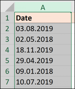 Dates with a full stop separator