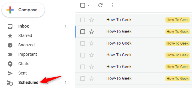 Option to view Scheduled emails in Gmail for web