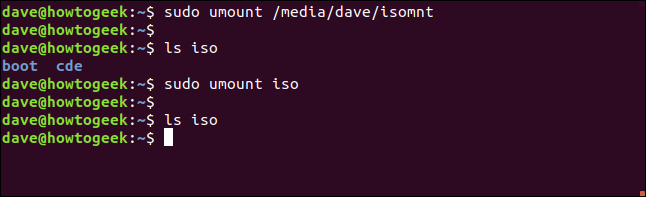 Providing bounded mount points in a terminal window