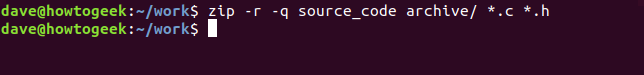 -r recursive option in a terminal window