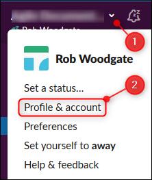 "The ""Profile & account"" option"