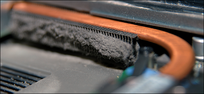 A dusty laptop interior. It's disgusting!