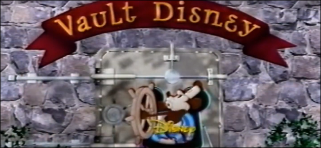"A frame of the ""Disney Vault"" opening sequence from ""The Magic of Walt Disney World."""
