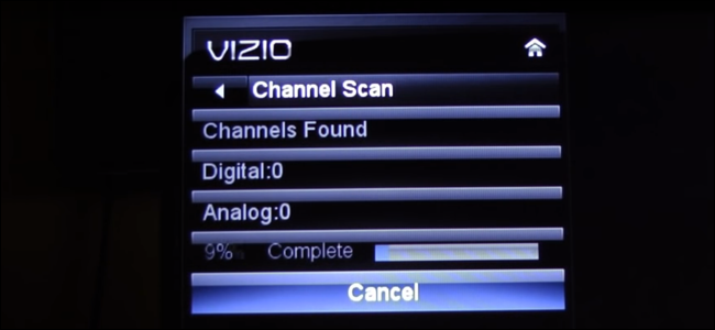 Channel scanning on a VIZIO E series TV