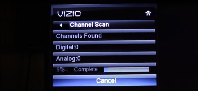 Channel scanning on a VIZIO E series TV